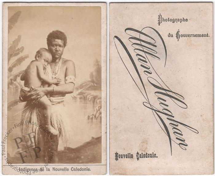 Woman and child of New Caledonia