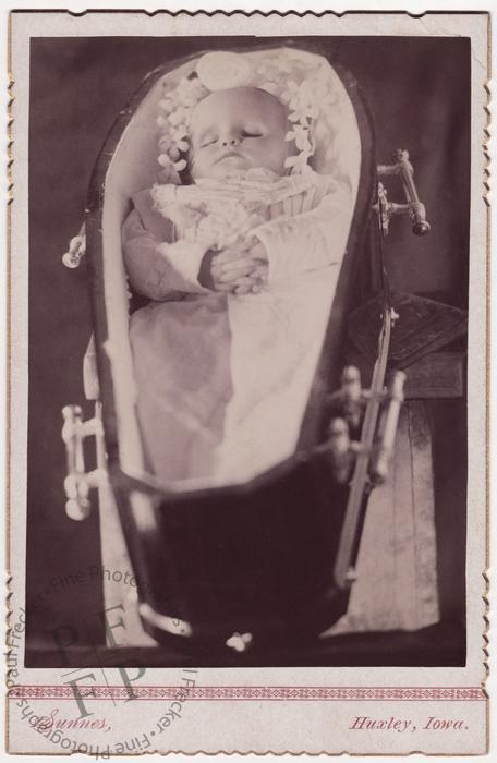 Baby in a coffin
