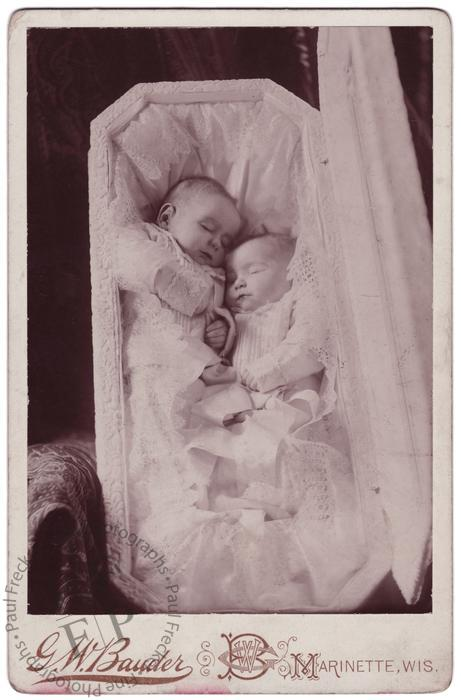 Twins in a coffin